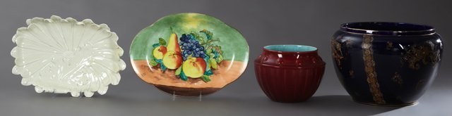 Group of Four Pieces of French Porcelain, 19th c.,
