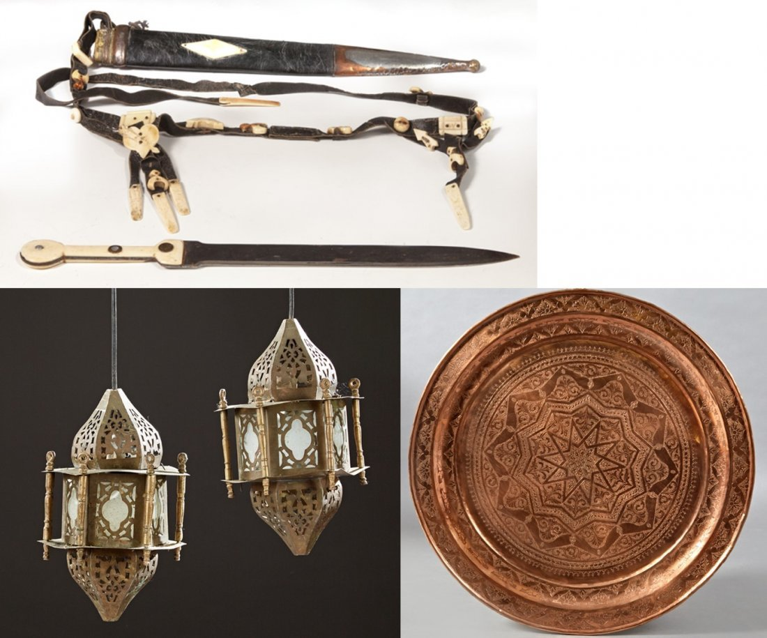 Group of Four Moroccan Items, 20th c., consisting of a