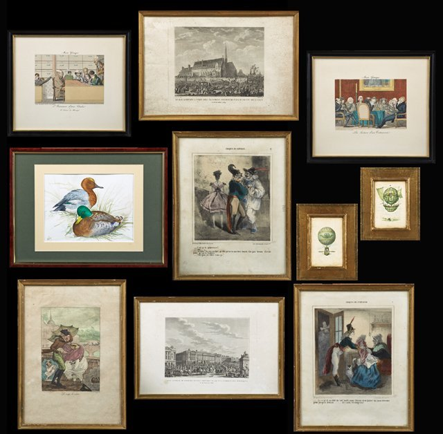 Group of Ten Pieces of French Art, 19th and 20th c.,