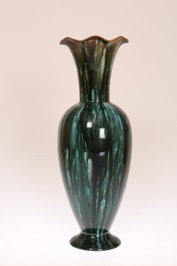 LINTHORPE POTTERY, NO. 2219 A VASE, of shouldered ovoid