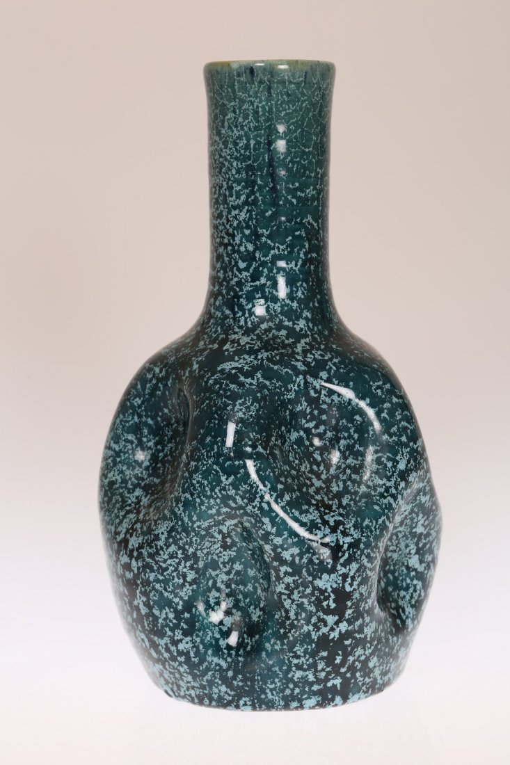 LINTHORPE POTTERY, NO. 24 A DIMPLED VASE, THE DESIGN