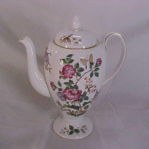 8: Wedgewood bone china floral pitcher