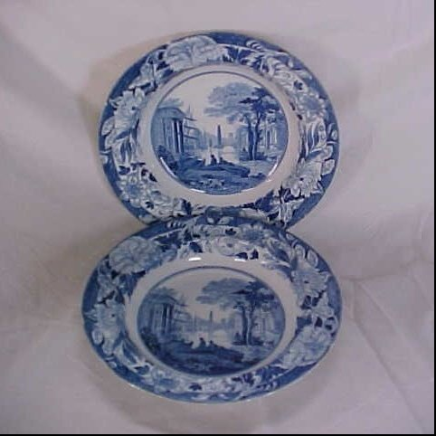 10: Lot of 2 Wedgewood blue and white transferware bowl