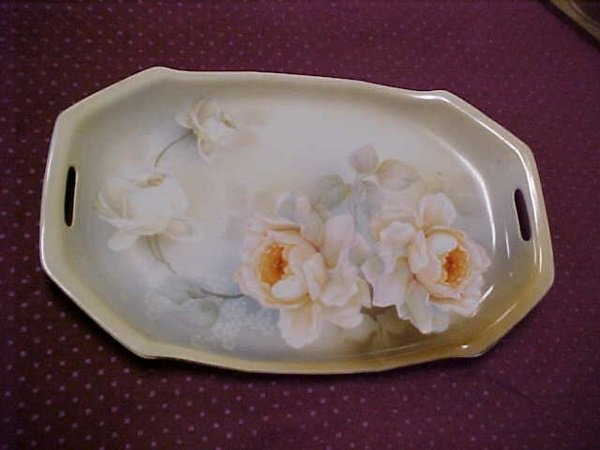 19: R. S. Germany hand painted floral platter