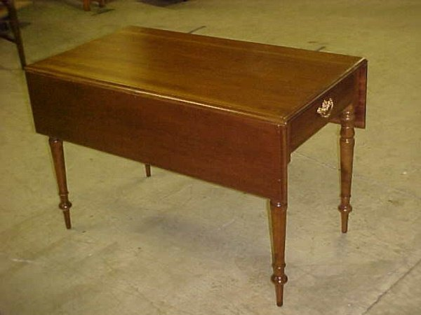 103: Solid walnut dropleaf table
