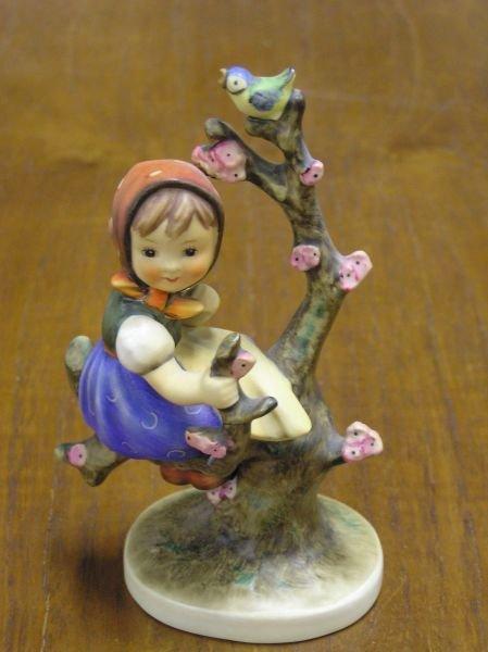 509: Hummel Girl in Tree with Bird Figurine