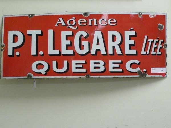 511: P.T. Legare Ltee Quebec Advertising Sign