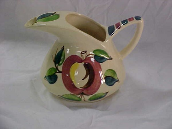 5: Deco style Purinton slipware apple pitcher