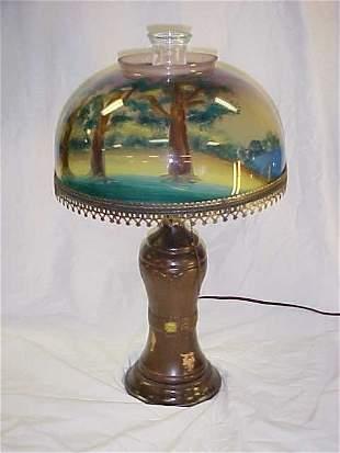 10: Reverse painted lamp
