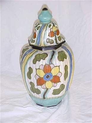 11: Tiko Gouda Plateel ceramic urn shaped vase