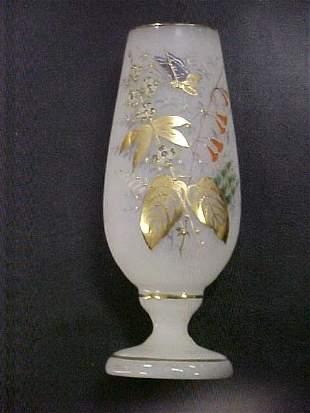 19: English Bristol handpainted vase