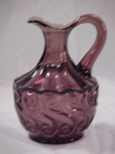 20: Vintage handblown purple cruet