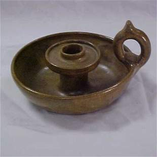 23: W.J. Gordy pottery candle holder