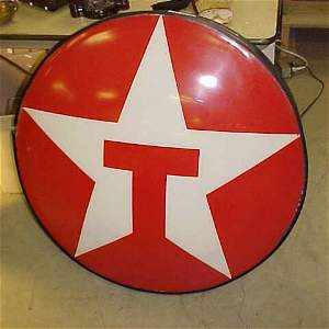 28: Large vintage lighted red star Texaco advertisement