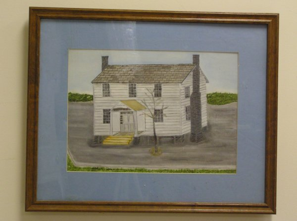 5: OIL ON CANVAS OF THE HISTORIC MARIETTA ROOT HOUSE