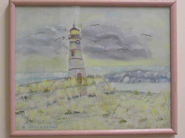23: OIL ON CANVAS OF A SEASCAPE ARTIST SIGNED