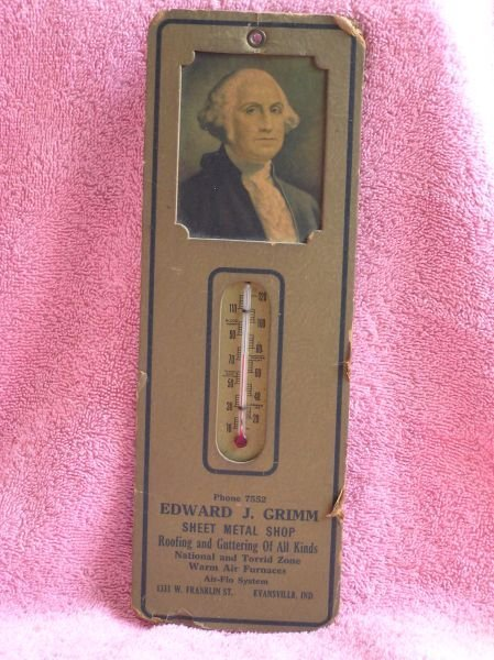 819: EDWARD J. GRIMM ADVERTISING THERMOMETER.
