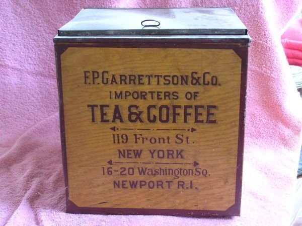 828: F.P. GARRETTSON & CO. TEA TIN