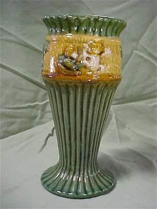 Majolica style vase
