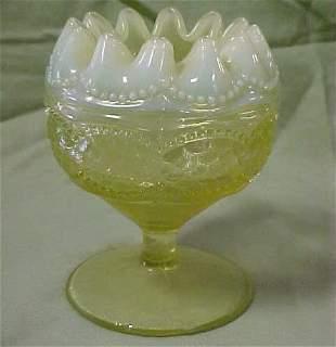 Vaseline fluted bowl