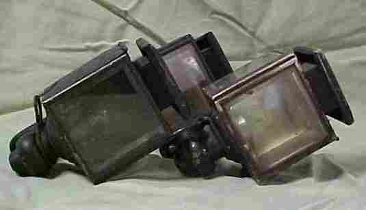 Lot of 3 early carriage lights