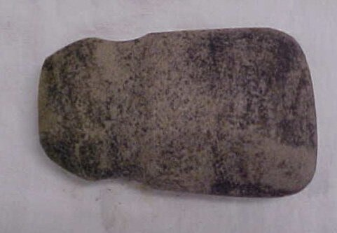 "2014: Indian artifact 4"" grooved axe"