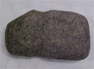 """Indian artifact 4-1/2"""" grooved axe"""