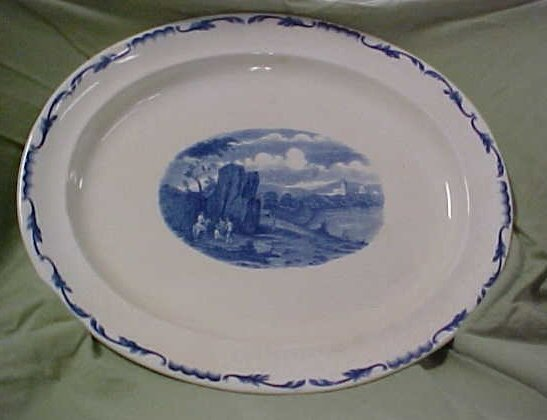 2023: Large blue & white Wedgewood platter