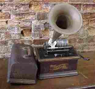 Edison Graphophone with horn