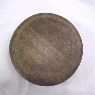 "Indian artifact 4-3/4"" discoidal"