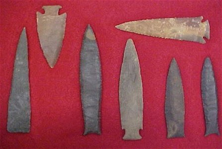 2080: Indian artifacts lot of 7 drills