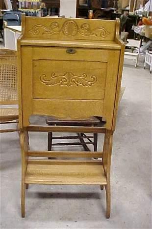 1910-1915 oak Larkin folding Ladies desk.