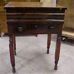 1830-1850 Mahogany Empire 2 drawer stand