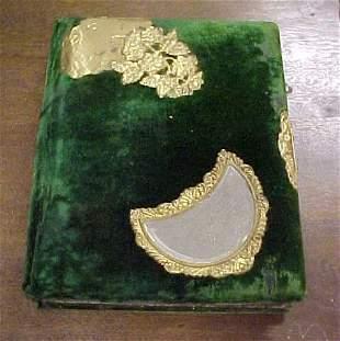 Victorian velvet photo album with inserts.