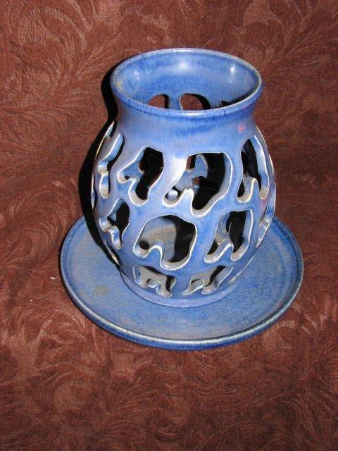 9: Rare W. J. Gordy candle holder