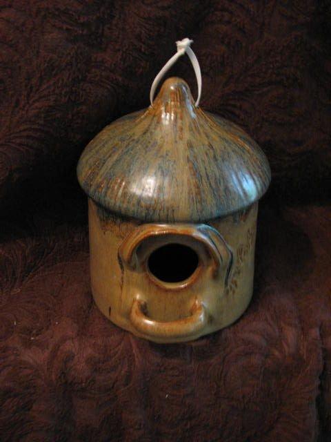 10: Ron Cooper pottery bird house