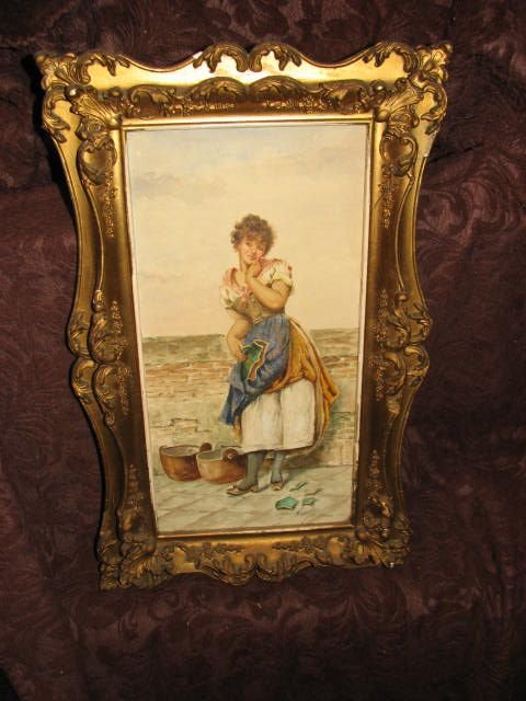 12: 1800's watercolor painting