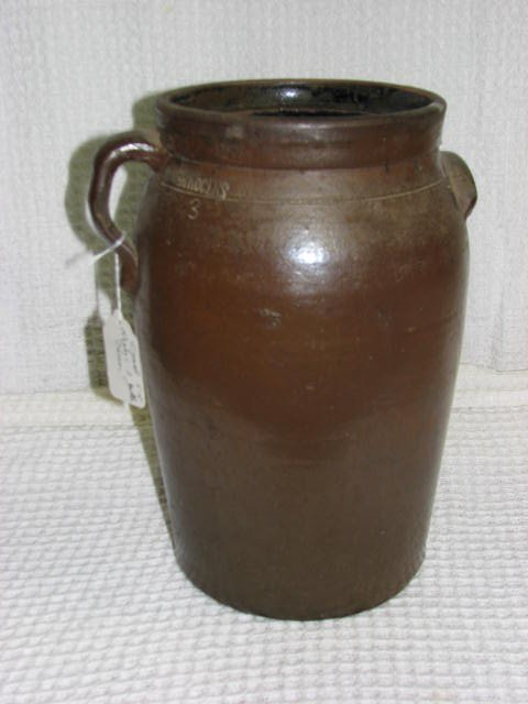 1: Signed S.R. Rogers 3 gallon churn Southern Pottery