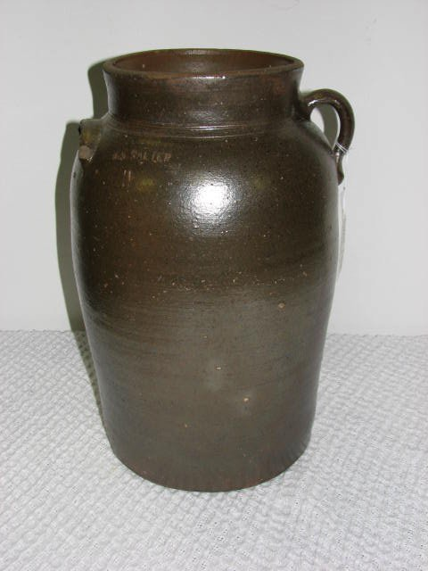 5: Signed B.S. Salter 4 gallon churn Southern Pottery