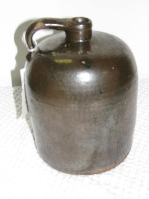8: Signed J.A. Bishop 1 gallon jug Southern Pottery