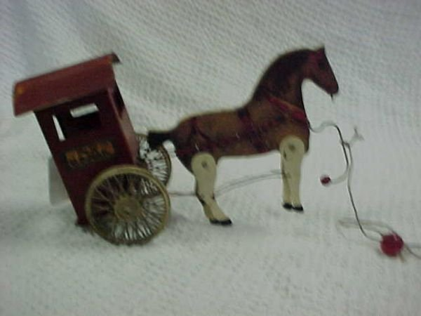 7: U. S. Mail wood & metal horse & cart