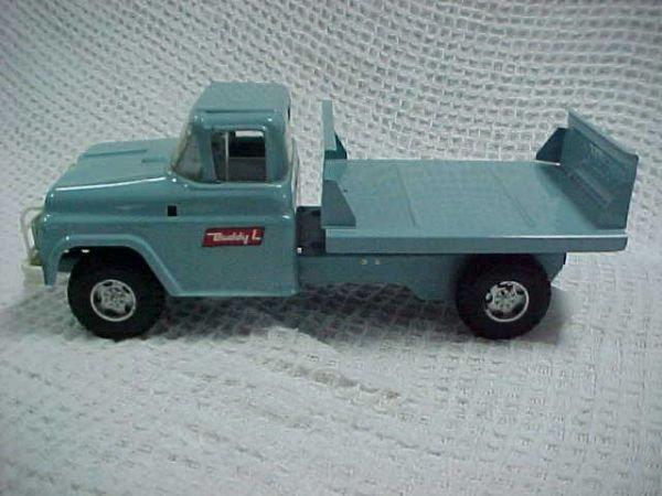 9: 1960's Buddy L Milk truck hauler