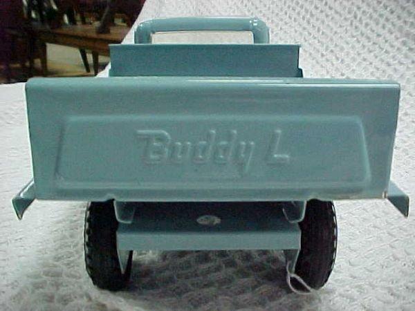 9: 1960's Buddy L Milk truck hauler - 2