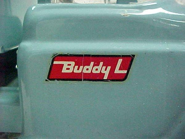 9: 1960's Buddy L Milk truck hauler - 3