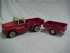 48: Carter tru scale pickup w/trailer
