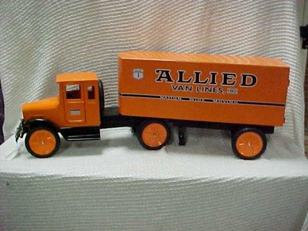 1506: 1920's Buddy L style semi Allied van lines custo