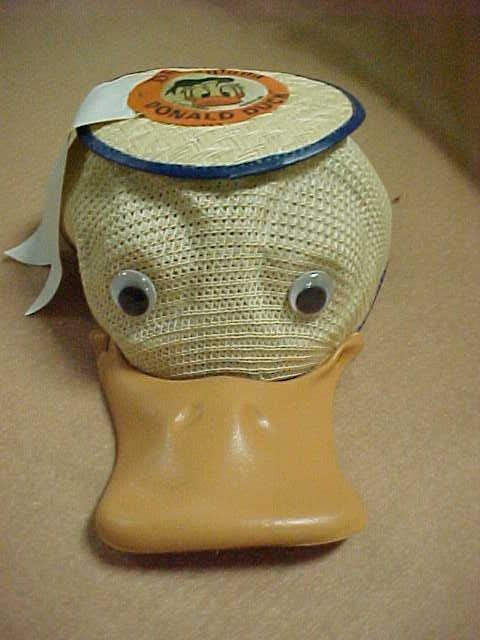 1585: Early Disney Donald Duck hat.  Original & rare.