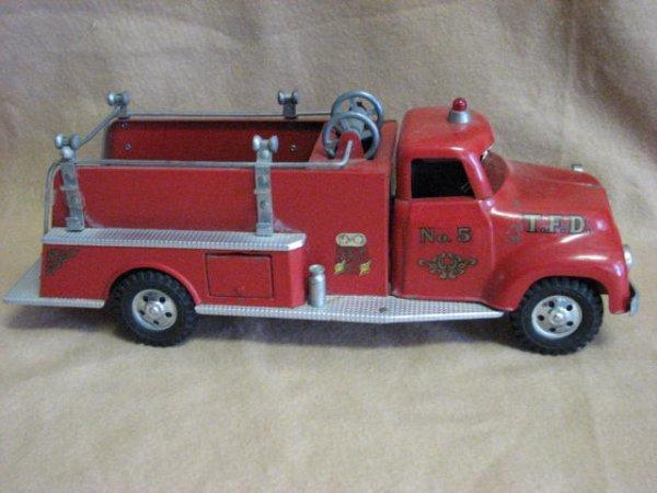 1: 1955 or 56 Tonka fire dept pumper truck original