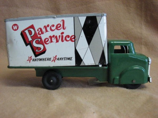 "5: 1950's Wyandotte ""Parcel Service Delivery"" box va"