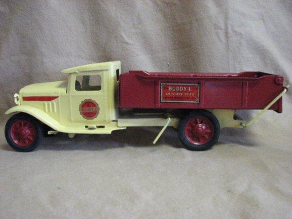 6: 1920's Buddy L Red & Yellow dump truck